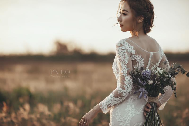 冉冉-台中美式婚紗-白紗-婚紗捧花