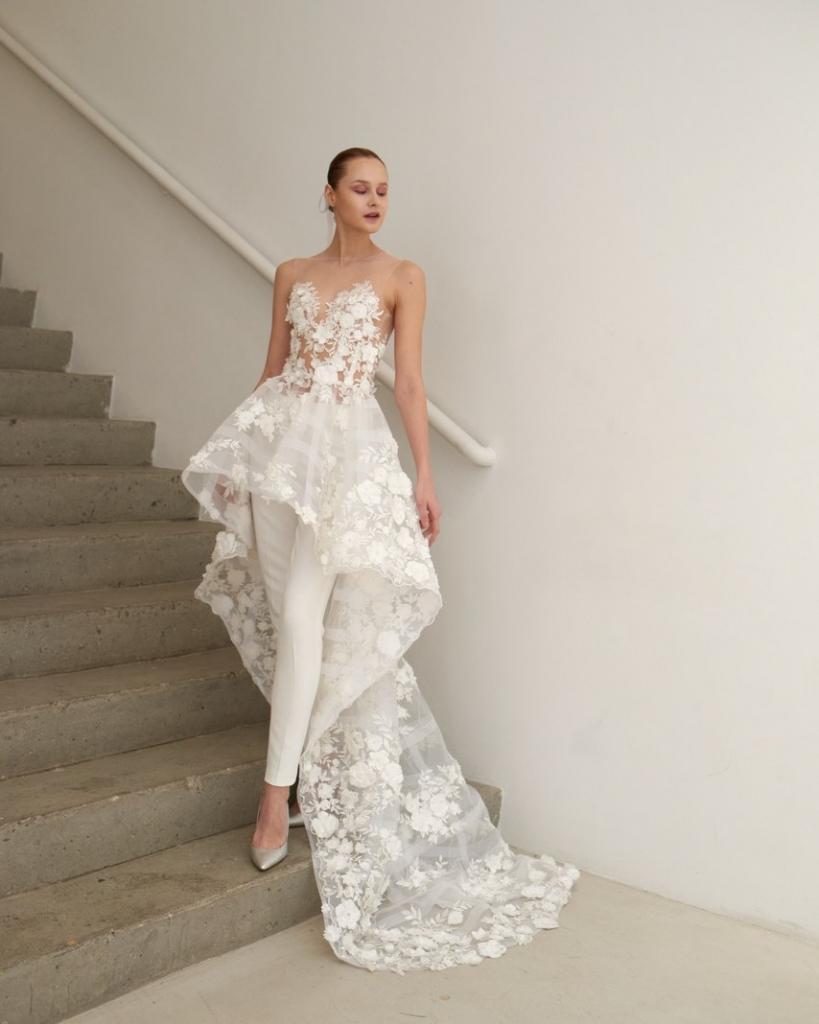 歐美婚紗趨勢 冉冉婚紗 RenRen Bridal 台中褲裝婚紗