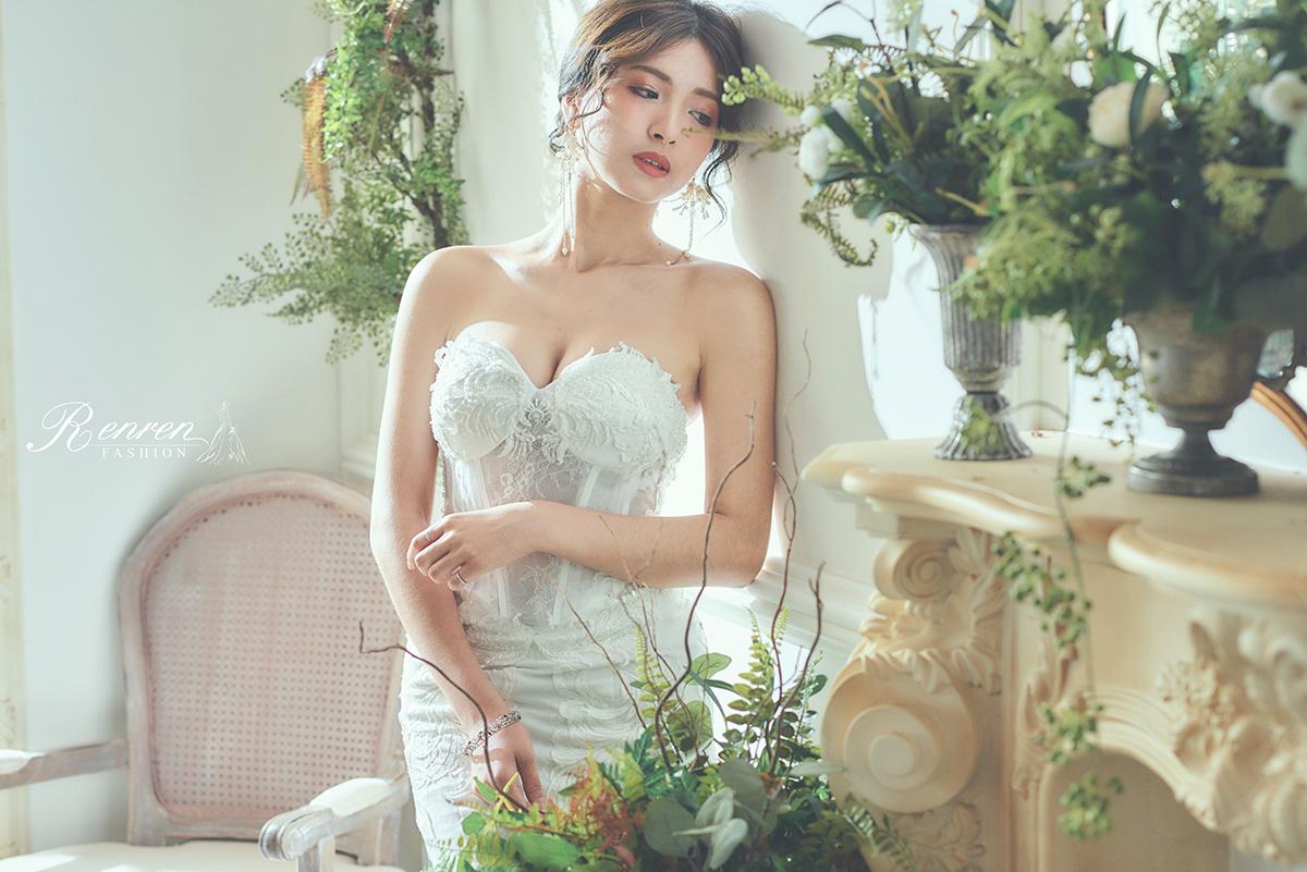 台中婚紗拍攝推薦-冉冉-魚尾白紗-婚紗工作室