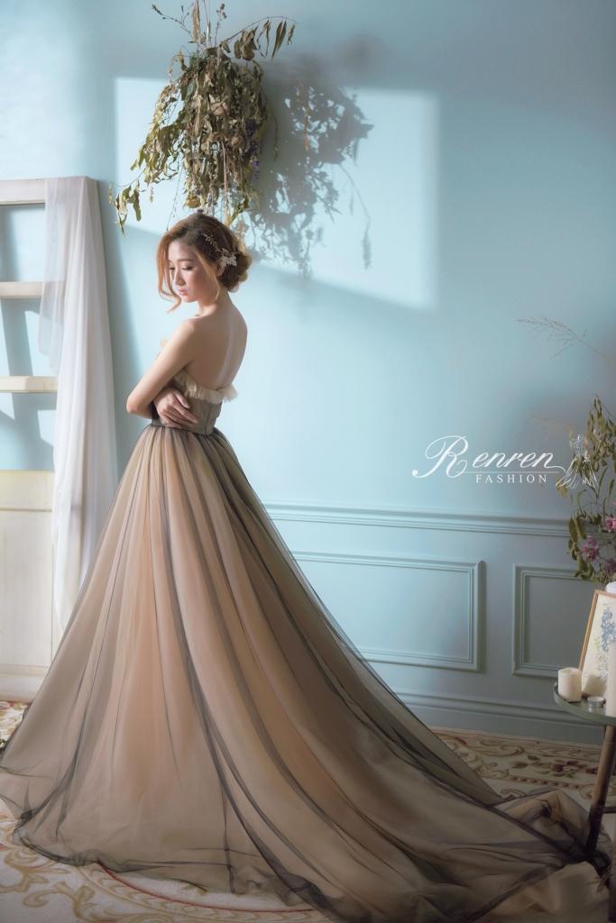 法式優雅裸色禮服-RenRen-Bridal-Wedding-Dress