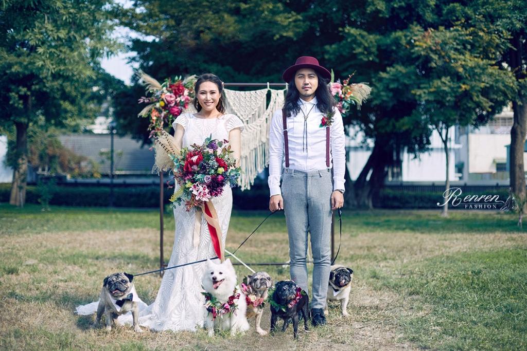寵物婚紗-婚紗道具-戶外佈景-毛小孩