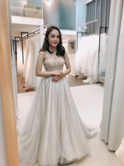 推薦-台中婚紗-冉冉新娘試穿-Nina
