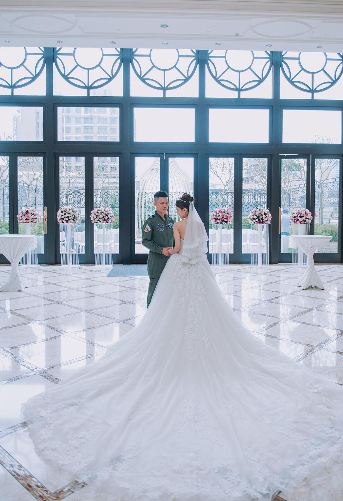 台中林酒店 婚禮 - 宴客 拖尾 白紗