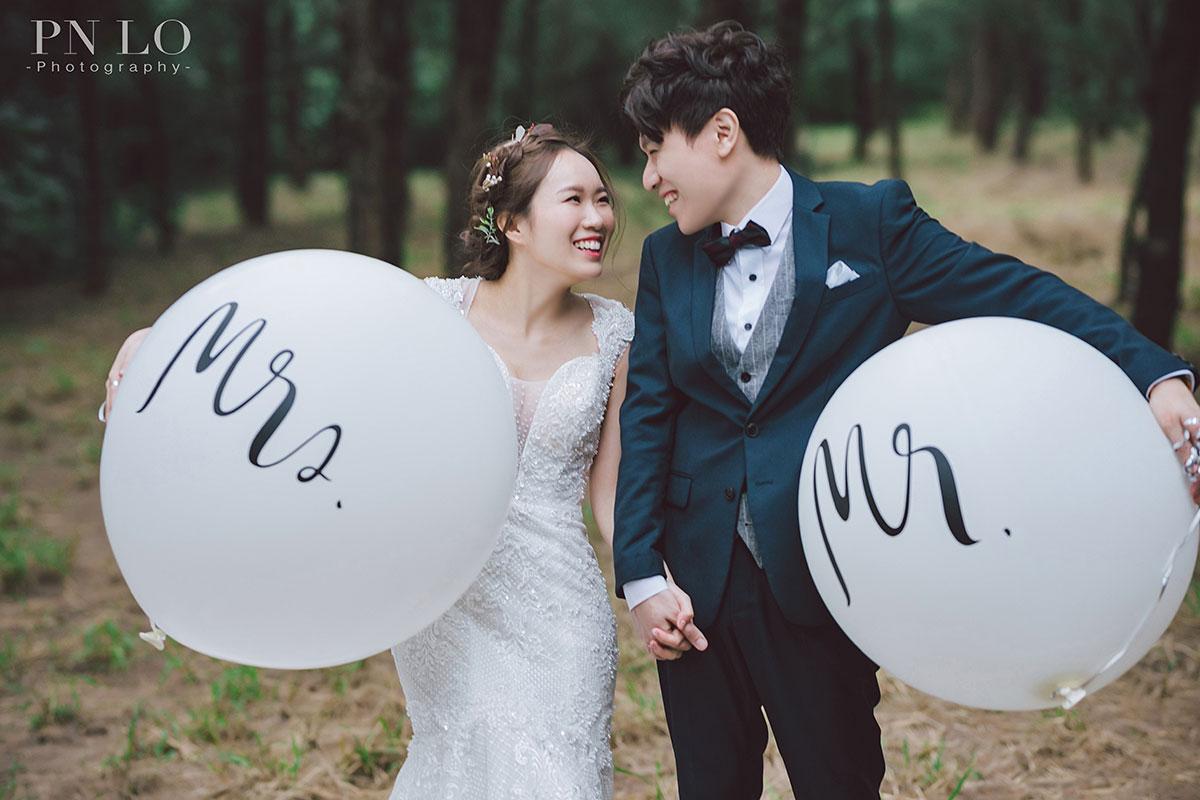 冉冉婚紗-台中拍婚紗-氣球-婚紗道具