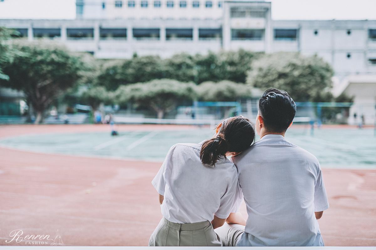 台中科大-制服拍婚紗-中技-校園操場