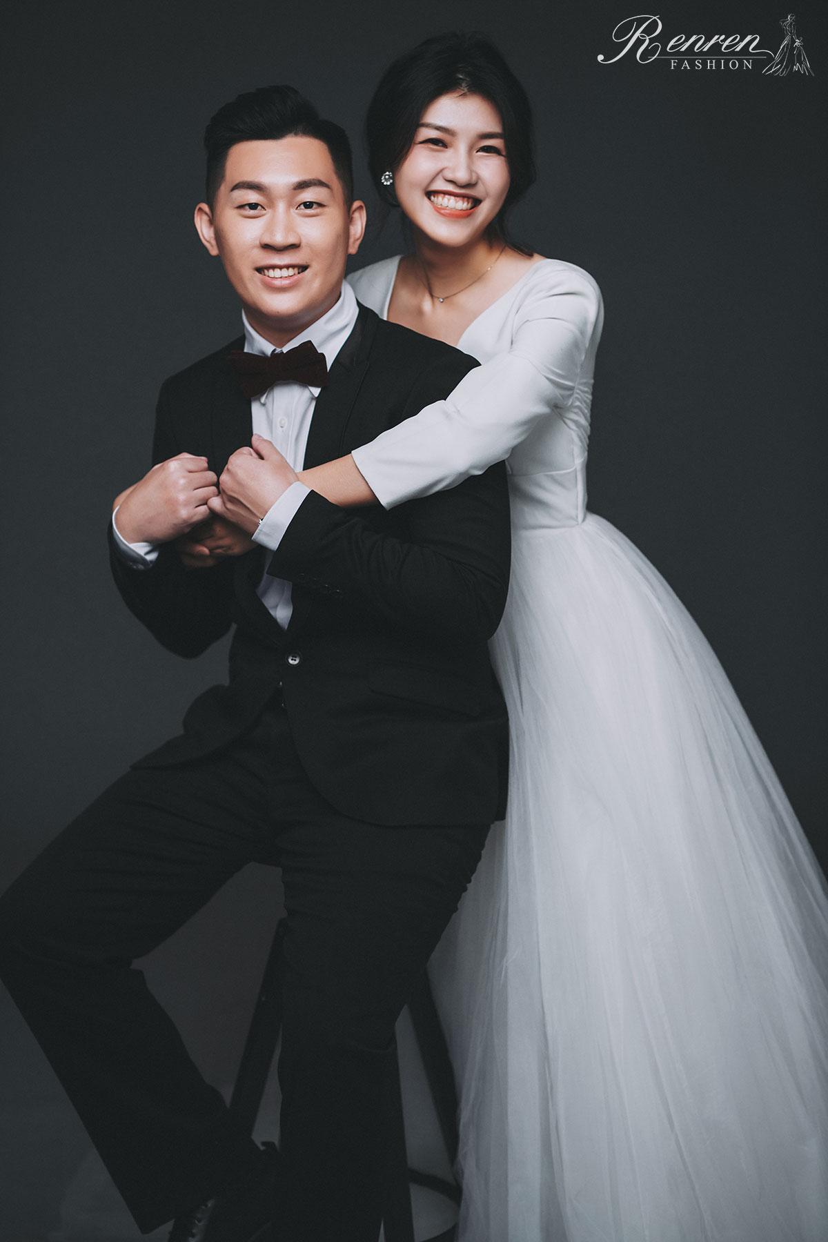 婚紗 美式自然 - 台中-冉冉婚紗-素背景-韓風婚紗