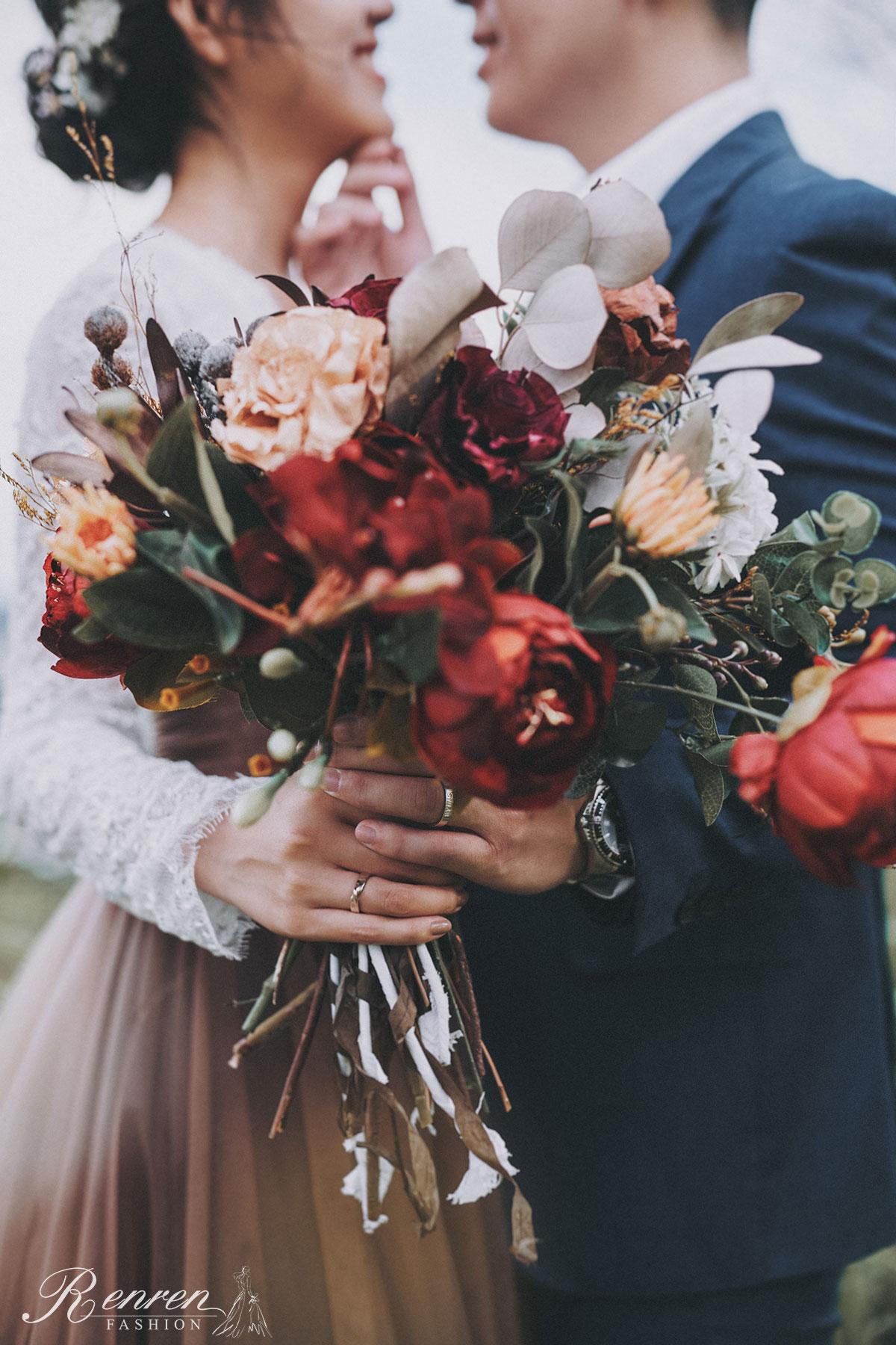婚紗 美式自然 - 台中-冉冉婚紗-捧花-美式