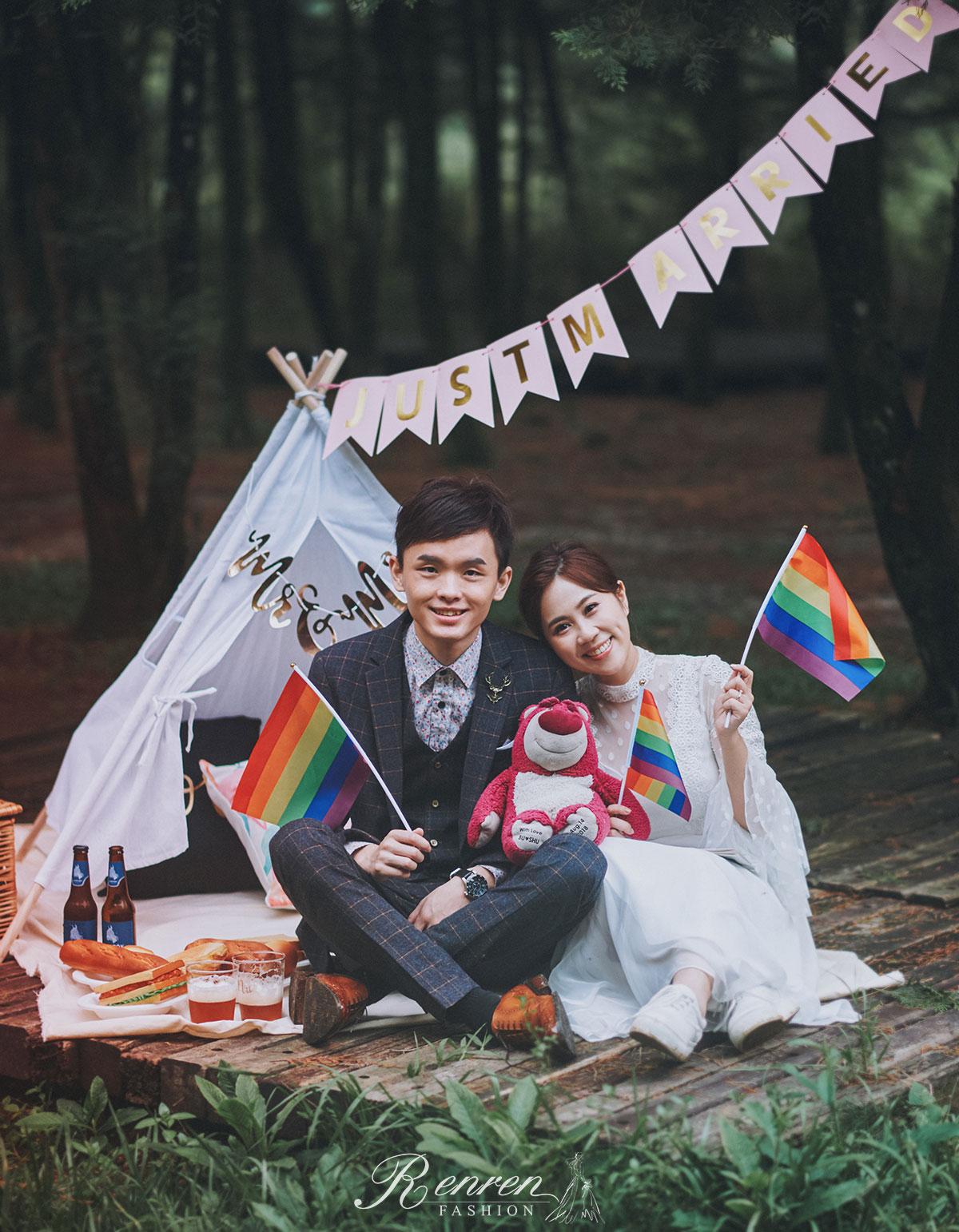 野餐-拍婚紗佈景-婚紗道具-帳篷-冉冉婚紗