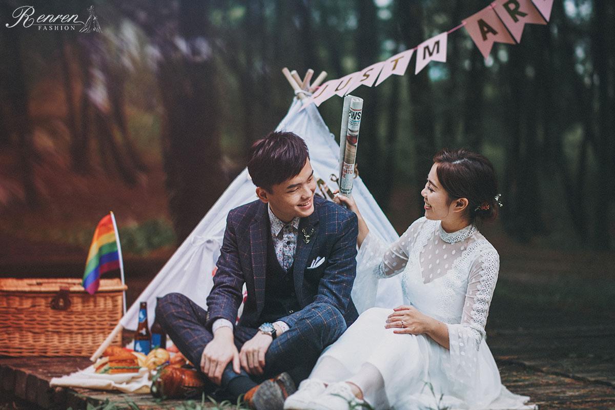 婚紗道具-野餐-帳篷-冉冉婚紗-佈景