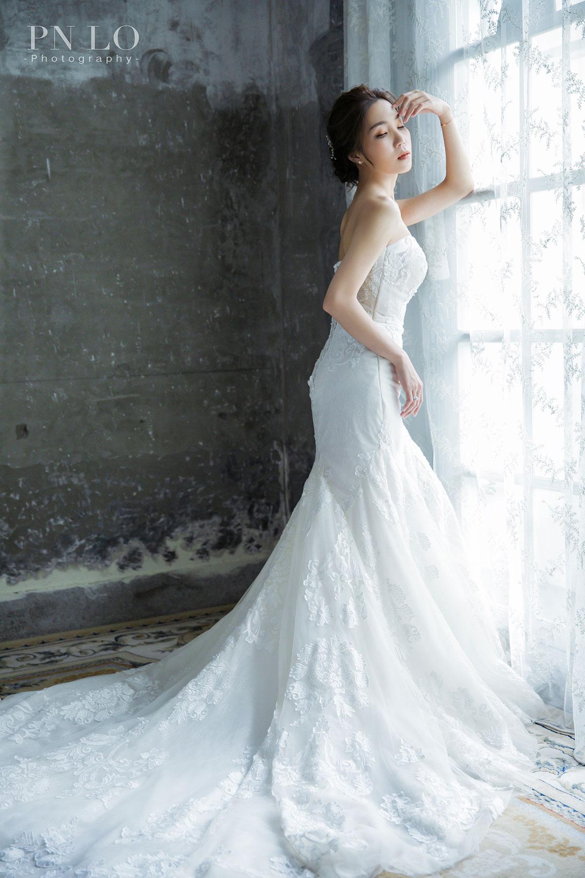 個性 清新婚紗-TATA踏踏攝影棚-冉冉婚紗-魚尾白紗