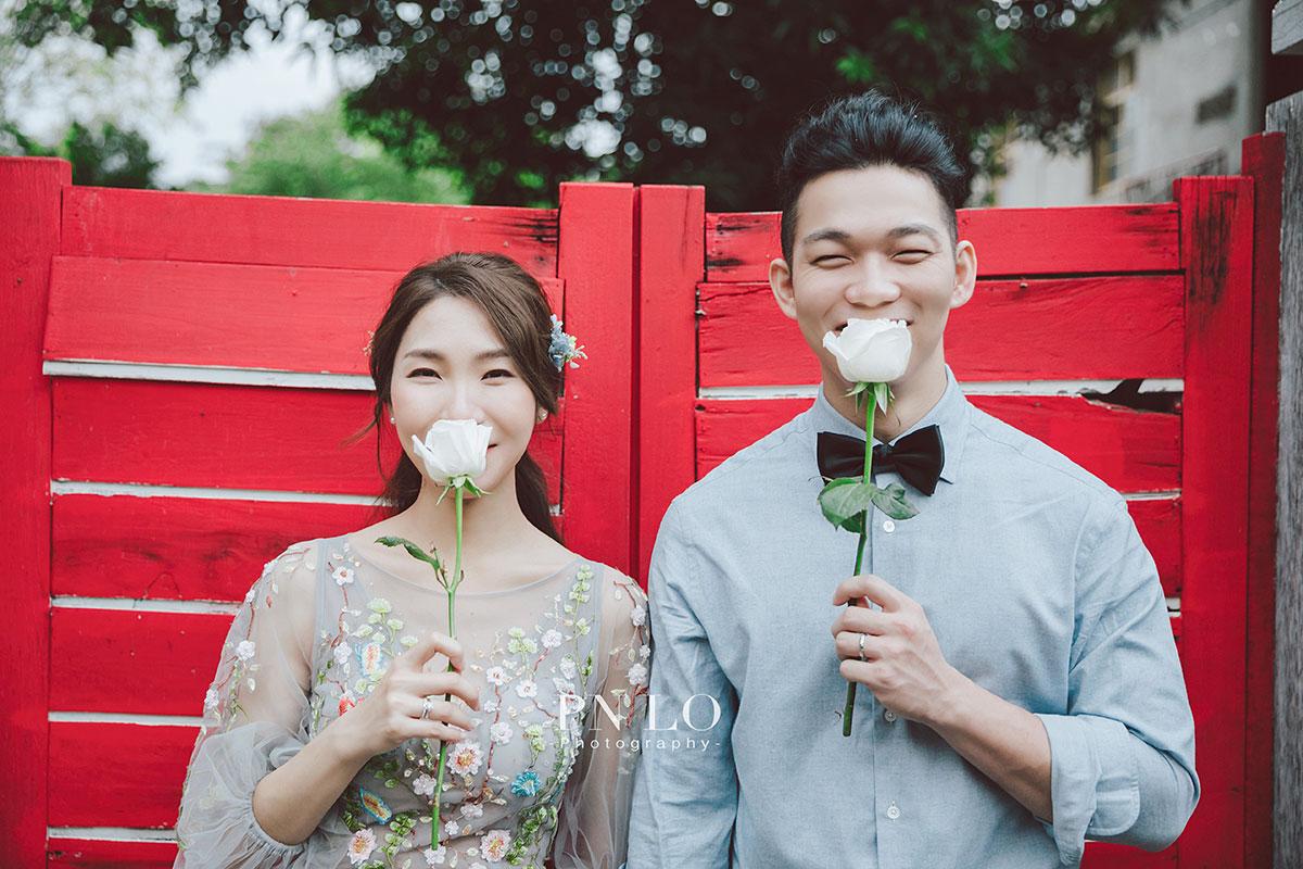 個性 清新婚紗-花朵刺繡禮服-冉冉婚紗