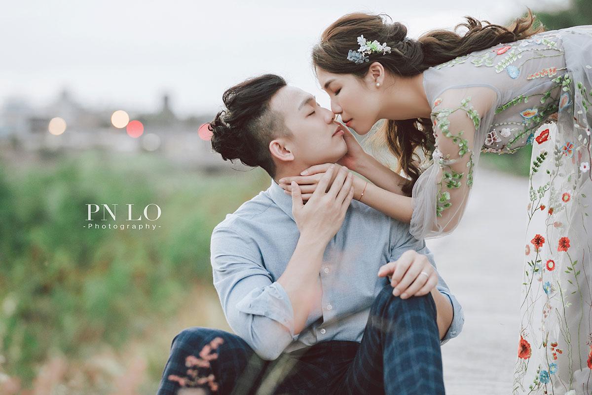 個性 清新婚紗-花卉刺繡禮服-冉冉婚紗