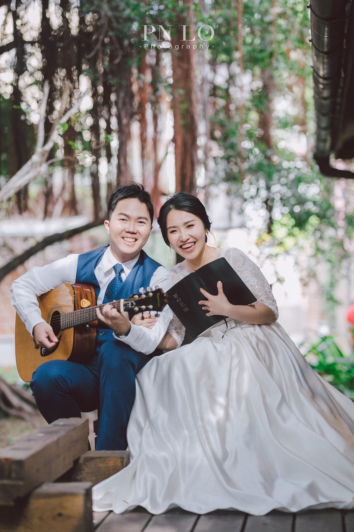 臺中文學館-都會公園 婚紗-冉冉婚紗-吉他