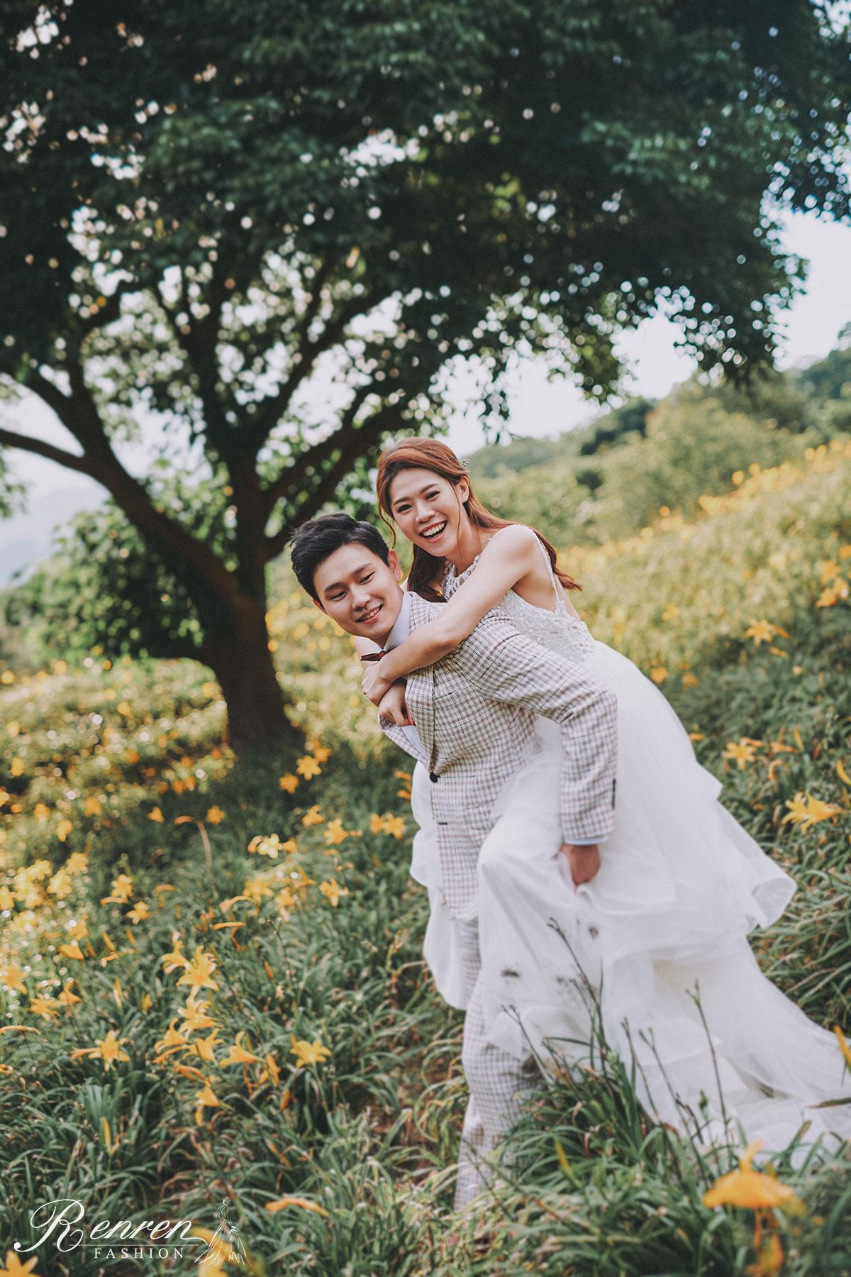 沐心泉-金針花海-簡約 美式婚紗-台中-婚紗景點