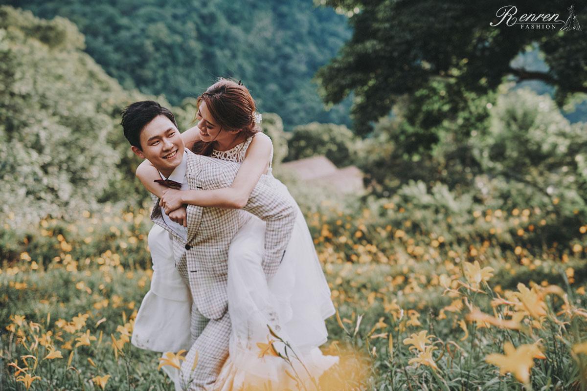 沐心泉-拍婚紗-簡約 美式婚紗-台中-金針花海